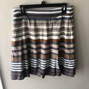 Banana Republic Earth Tone & Gray Stripes Skirt